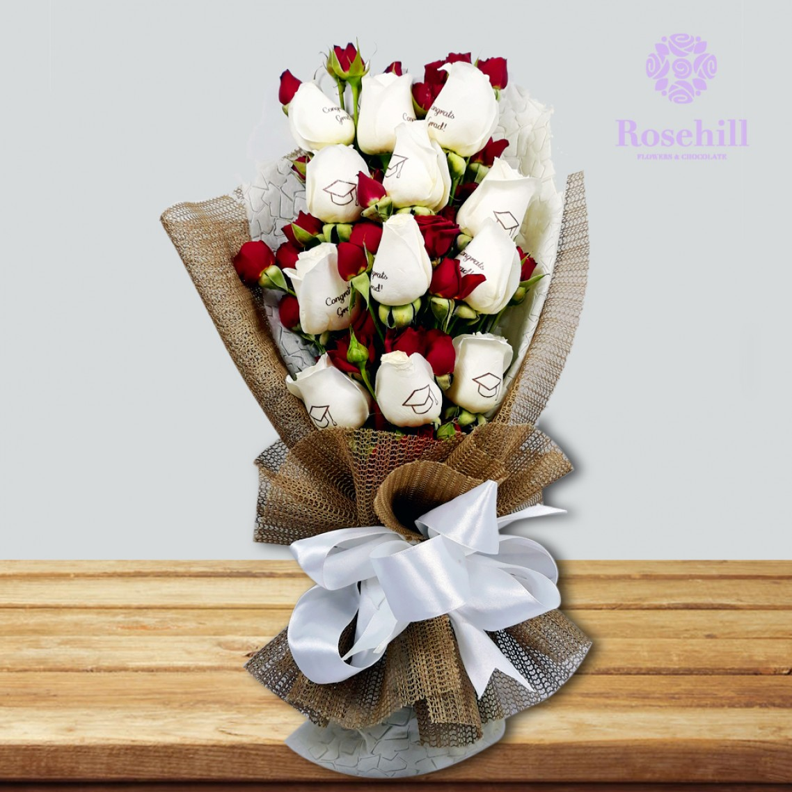 1524675402-h-250-_Rosehill's Graduate Bouquet with Spray Roses- White.jpg
