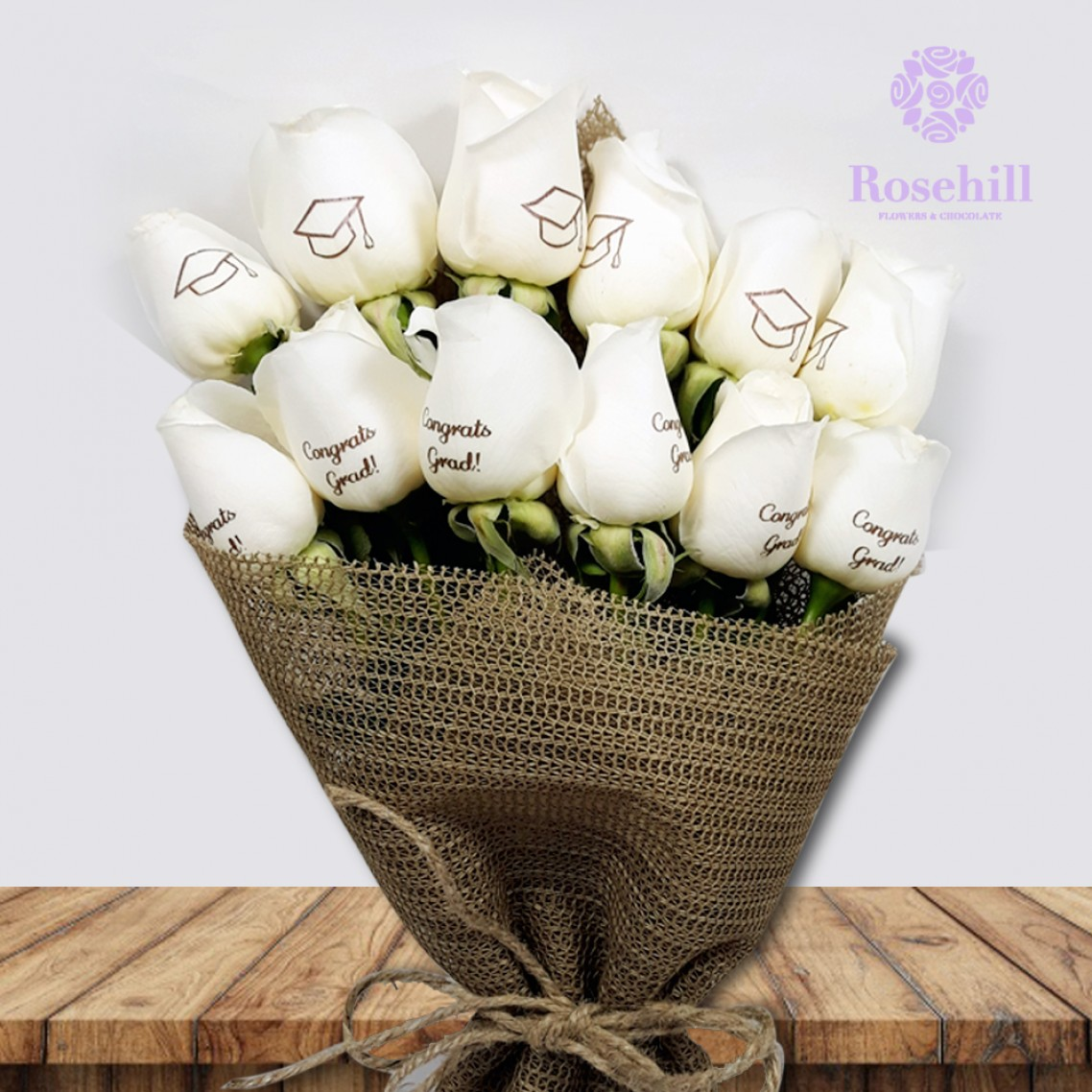 1524677166-h-250-Rosehill's Graduation Bouquet- White.jpg